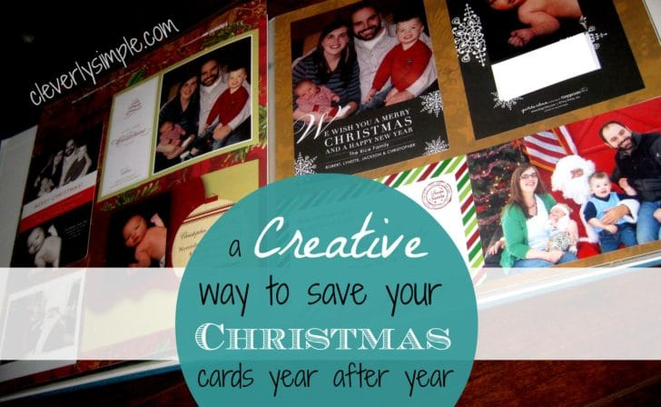 A Creative Way to Save Your Christmas Cards