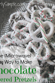 The Microwave Easy Way to Make Chocolate Covered Pretzels