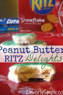 Ritz Peanut Butter Delights (Easy Christmas Treats!)