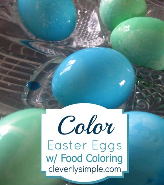 color Easter Eggs Food Coloring