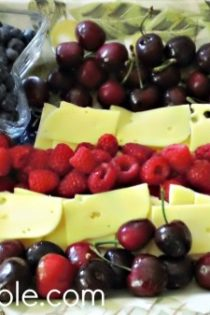 Red, White and Blue Fruit and Cheese Side