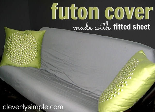Futon Cover Made with Fitted Sheet