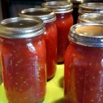 How To Can Tomatoes - Finished Product