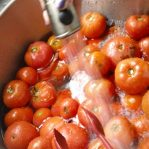 How to Can Tomatoes - Cool After Boiling Water