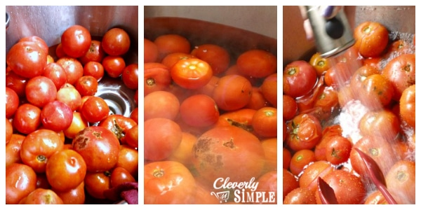 How to Can Tomatoes - How to Peel Tomatoes