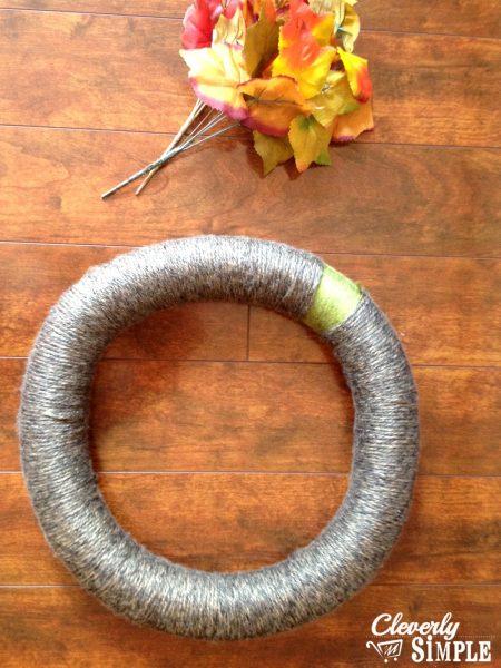 Fall Yarn Wreath 1