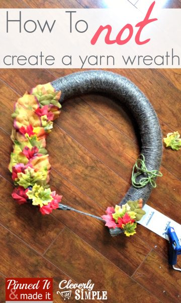 How to Not Create a Yarn Wreath 3
