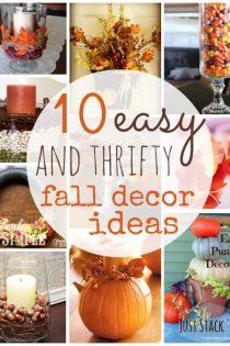 10 Thrifty Fall Home Decor Ideas to Create