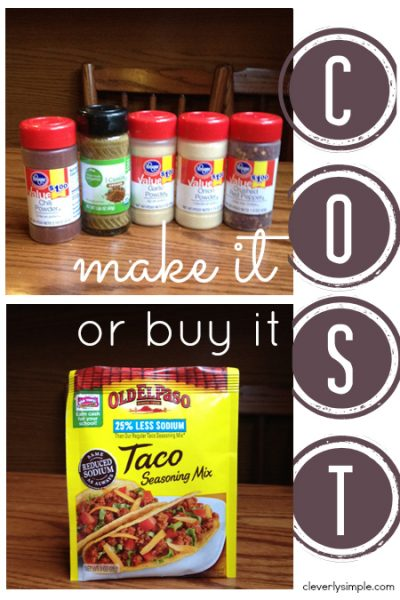 Taco Seasoning : Make It Or Buy It? - Cleverly Simple®