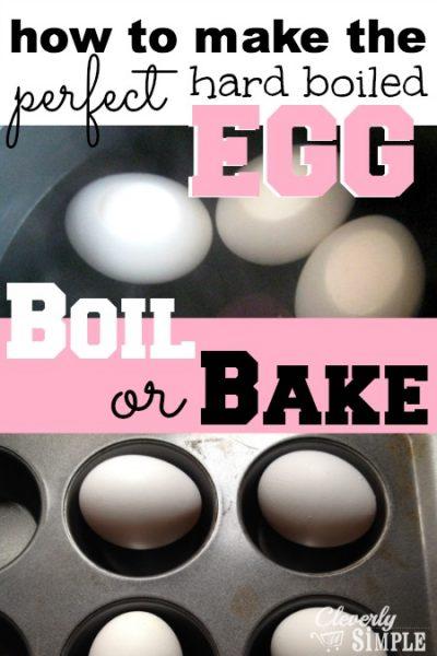 Make Hard Boiled Egg Boil or Bake