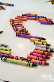 Framed DIY Crayon Letters : Homemade Gift Idea