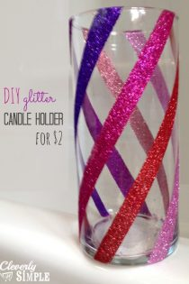 Glitter Candle Holder : DIY Christmas Gift For Only $3