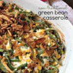 Non Traditional Green Bean Casserole from Aldi