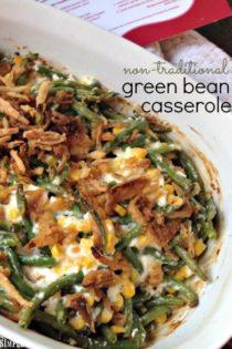 Non-Traditional Green Bean Casserole Recipe