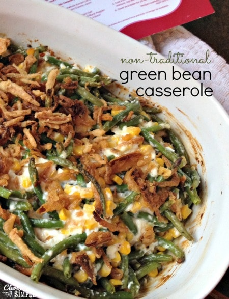 Non Traditional Green Bean Casserole recipe from Aldi