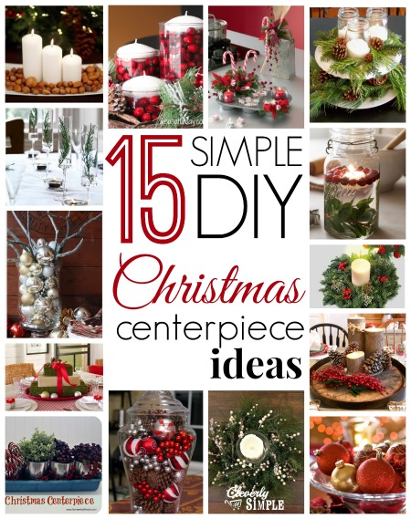 Simple diy christmas centerpiece ideas cleverly