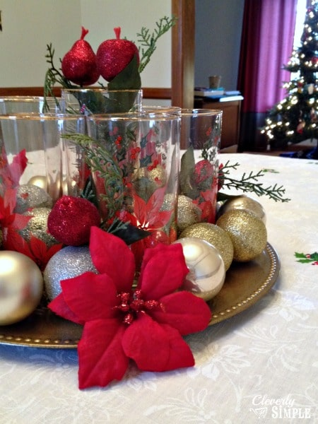 DIY Christmas Centerpiece from Dollar Tree