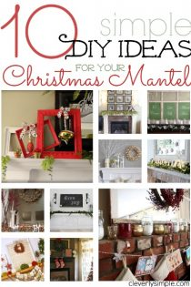 10 Simple DIY Ideas For Your Christmas Mantel
