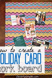 Christmas Card Holder Cork Board : Easy DIY Project