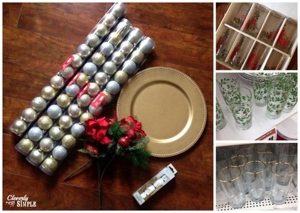 Supplies for Christmas Centerpiece