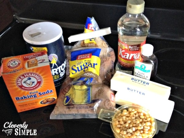 Caramel Corn Ingredients