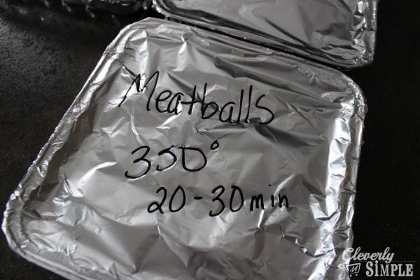 Meatballs Freezer Cooking