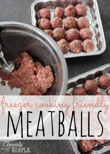 easy meatball recipe with ground beef freezer cooking meatballs