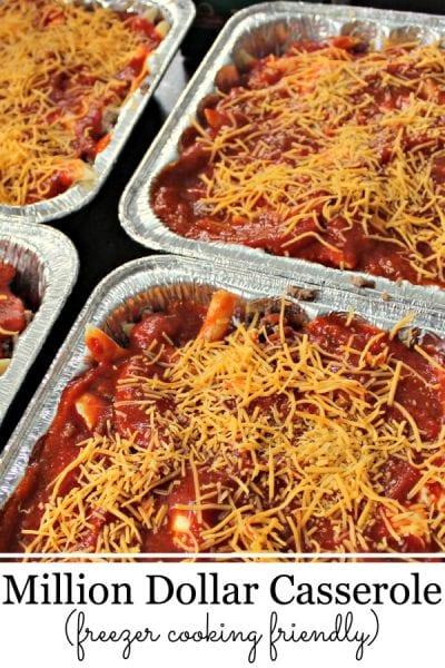 Easy Recipes with Ground Beef Million Dollar Casserole Freezer Friendly