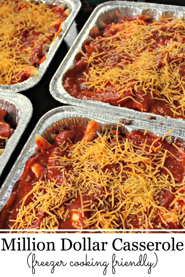 Easy Recipes with Ground Beef Million Dollar Casserole Freezer Friendly