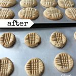Peanut Butter Cookies Easy Before Baking and After