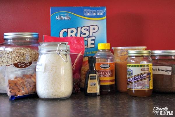 Healthy Granola Bar Recipe Ingredients