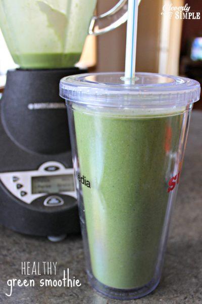 Healthy Green Smoothie Recipe Spinach Banana