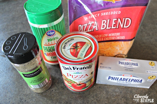 Layered Pizza Dip Recipe Ingredients