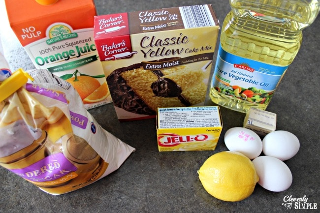 Moist Lemon Cake Recipe Ingredients