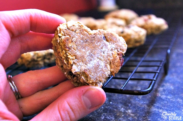 finished oatmeal cookie with flax egg