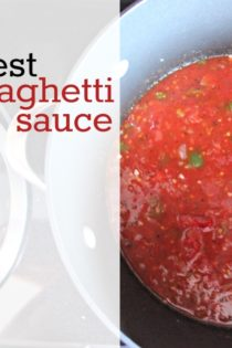 The Best Spaghetti Sauce Recipe Made with Canned Tomatoes