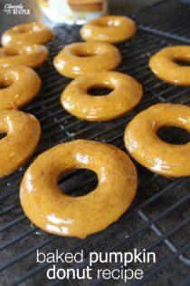 Baked Pumpkin Donut Recipe With Caramel Glaze