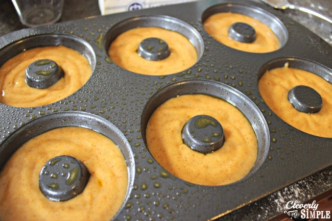 cake doughnut recipe ready to bake