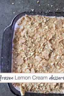 Four Ingredient Frozen Lemon Cream Dessert