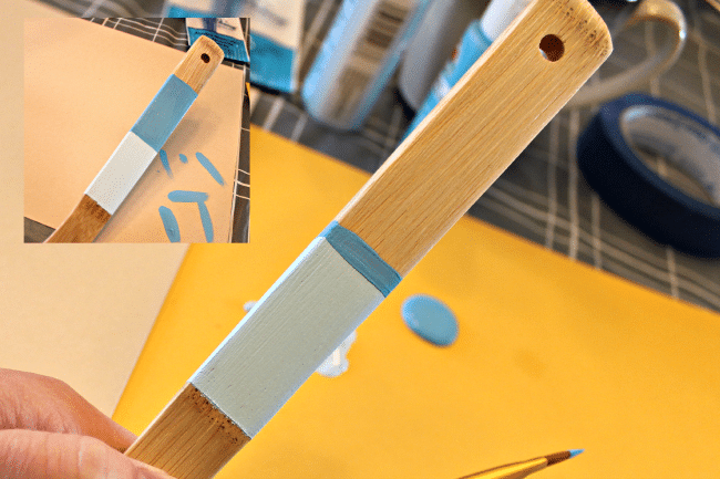 how to add two colors to painted utensils