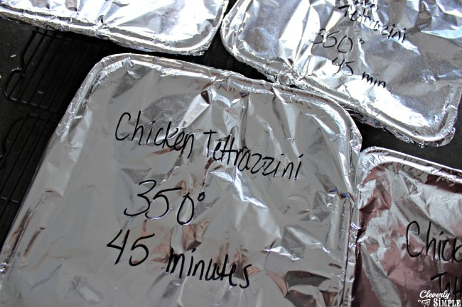 how to label food for freezer cooking easy chicken tetrazzini