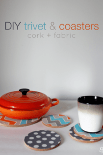 DIY Gift Idea : Fabric Covered Trivet & Coasters