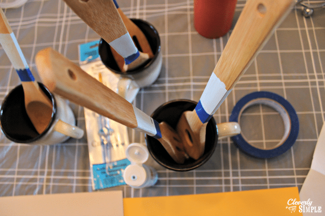 how to paint kitchen utensils