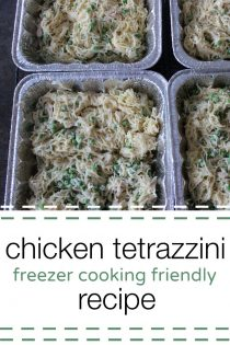 Easy Freezer Cooking Recipe : Chicken Tetrazzini