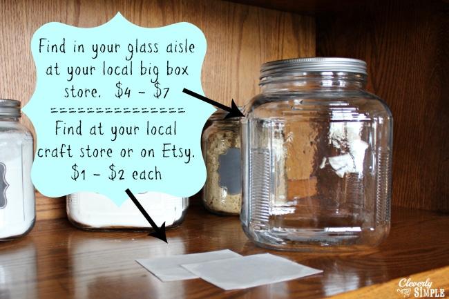 supplies for DIY flour container