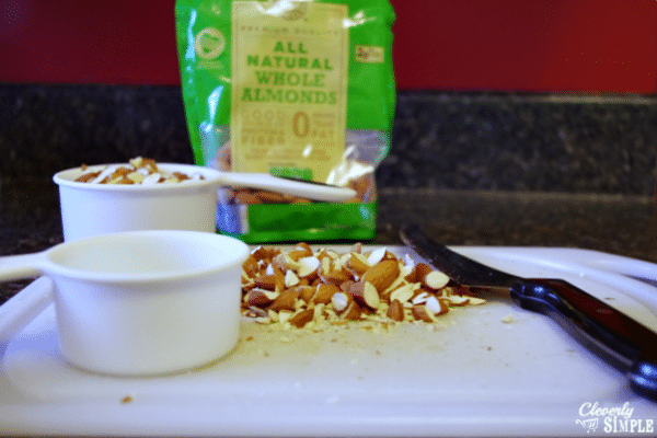 Making candied almonds from a recipe