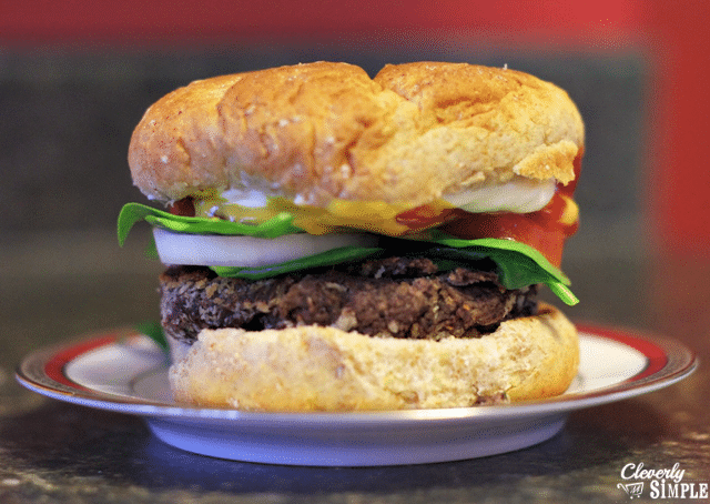 black bean burgers are just like real burgers