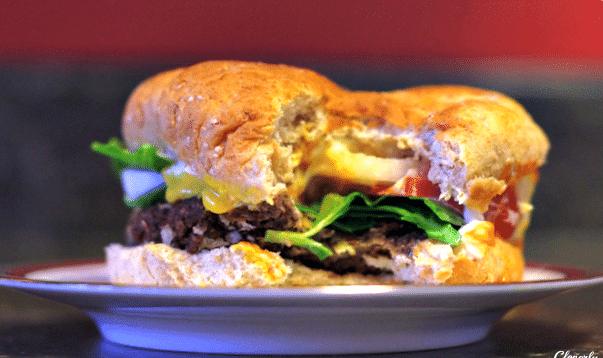 finished black bean burger