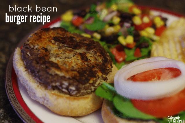 homemade easy black bean burger recipe