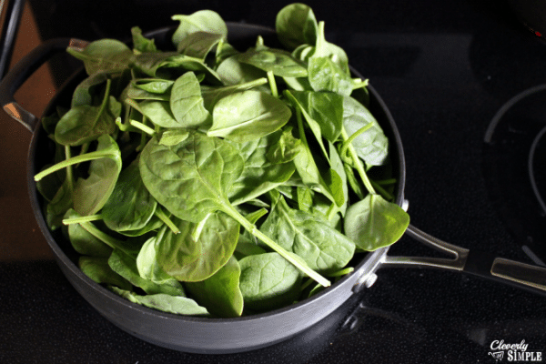 how to wilt fresh spinach for spinach rice casserole